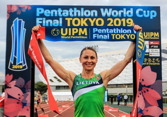 UIPM nuotr./Laura Asadauskaitė-Zadneprovskienė laimėjo pasaulio taurės finalą Tokijuje.