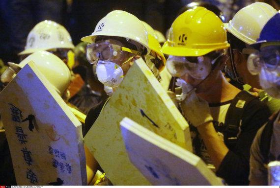 """""""Scanpix""""/""""Sipa USA"""" nuotr./Demonstracijos Honkonge 2014-aisiais"""