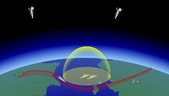 """""""Scanpix""""/AP nuotr./Vaizdo montažai parodė, kaip raketos neva perskrenda kalnus ir vandenynus, lekia virš Atlanto ir smogia JAV Rytų pakrantei"""
