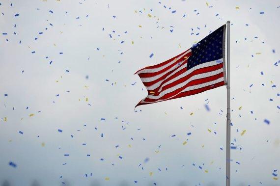 """AFP/""""Scanpix"""" nuotr./JAV vėliava"""
