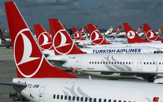 """""""Reuters""""/""""Scanpix"""" nuotr./""""Turkish Airlines"""" lėktuvai"""