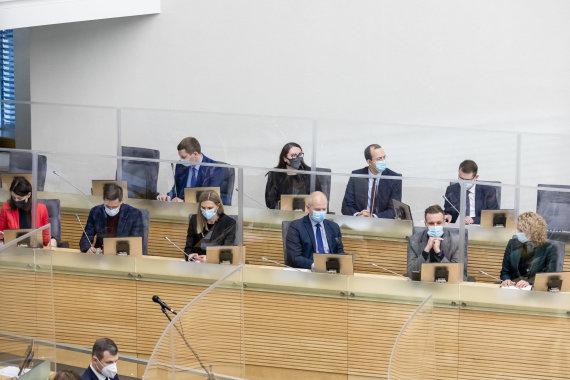 Luko Balandžio / 15min nuotr./Seime pristatoma vyriausybės programa