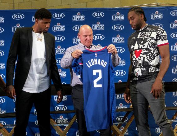 """""""Scanpix"""" nuotr./S.Ballmeris šią vasarą į """"Clippers"""" priviliojo K.Leonardą (dešineje) ir P.George'ą."""