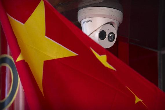 """""""Scanpix""""/AP nuotr./""""Hikvision"""" kameros paklūsta Kinijos vyriausybės valiai"""