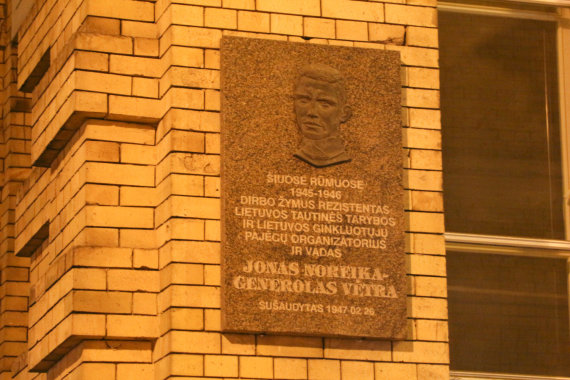 Juliaus Kalinsko / 15min nuotr./Generolo Vėtros atminimo lenta