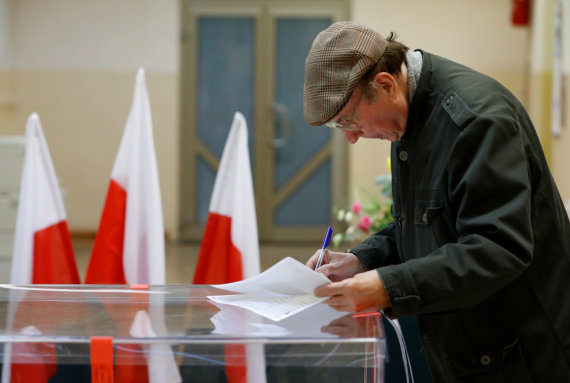 """""""Reuters""""/""""Scanpix"""" nuotr./Rinkimai Lenkijoje"""