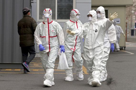 """""""Scanpix""""/AP nuotr./Koronaviruso protrūkis Pietų Korėjoje"""