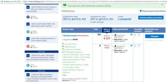 """Booking.com nuotr./Rezervuoti kambarius """"Telecom Guest"""" viešbutyje galima ir gruodį"""