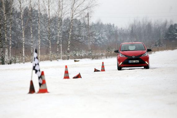 Eriko Ovčarenko/15min.lt nuotr./Žiemos vairavimo aikštelės pristatymas