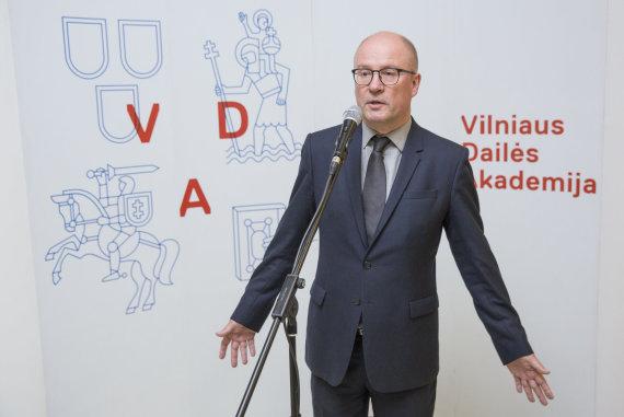 Luko Balandžio / 15min nuotr./Vilniaus dailės akademijos rektorius Audrius Klimas