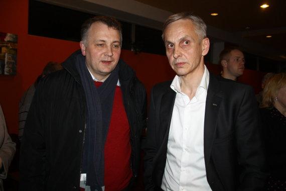 """Tomo Markelevičiaus nuotr./Visuomeninis rinkimų komitetas """"Povilas Urbšys už sąrašą """"Kartu"""" švenčia pergalę"""