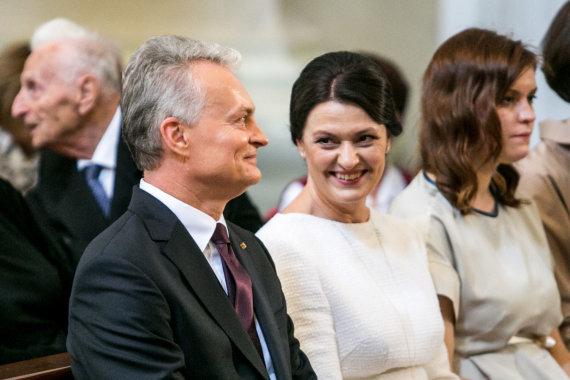 Juliaus Kalinsko / 15min nuotr./Gitanas Nausėda su žmona Diana