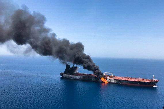 """""""Reuters""""/""""Scanpix"""" nuotr./Omano įlankoje užpultas tanklaivis"""