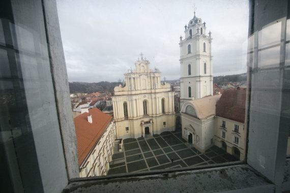 Valdo Kopūsto / 15min nuotr./Vilniaus universiteto Didysis kiemas
