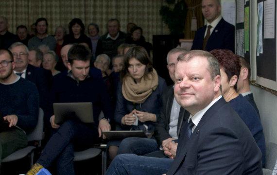 """S. Gvildžio / """"Šilokarčema"""" nuotr./Premjeras Saulius Skvernelis pranešė dalyvausiantis prezidento rinkimuose"""