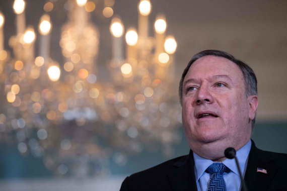 """AFP/""""Scanpix"""" nuotr./Mike'as Pompeo"""