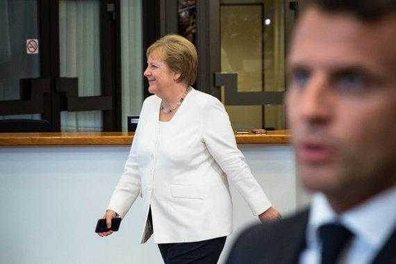 "AFP/""Scanpix"" nuotr./Angela Merkel, Emmanuelis Macronas"