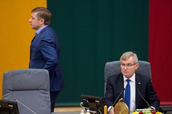 Žygimanto Gedvilos / 15min nuotr./Ramūnas Karbauskis ir Viktoras Pranckietis