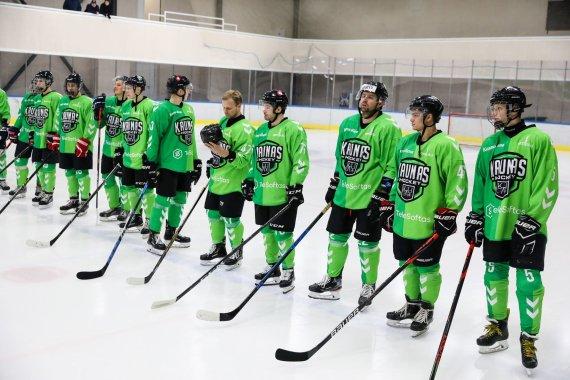 """hockey.lt nuotr./""""Kaunas Hockey"""" laimėjo reguliarųjį čempionatą, bet titulo negavo."""