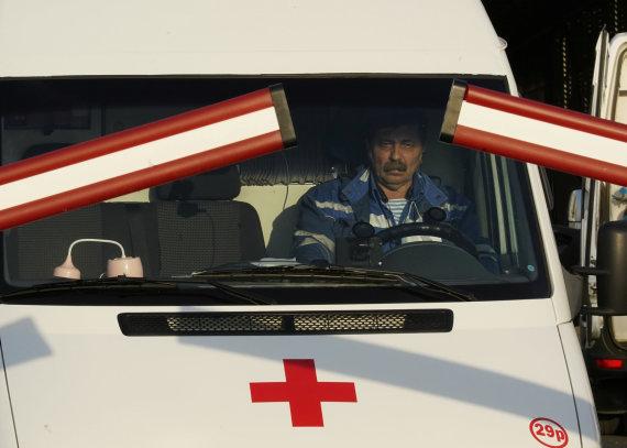 """""""Reuters""""/""""Scanpix"""" nuotr./Greitosios pagalbos automobilis Maskvoje"""