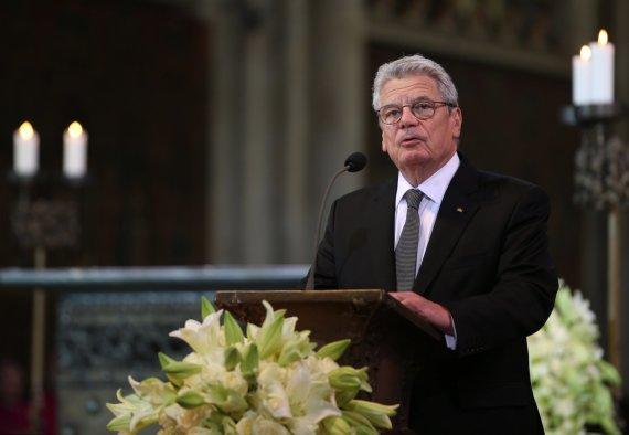 """AFP/""""Scanpix"""" nuotr./Vokietijos prezidentas Joachimas Gauckas."""