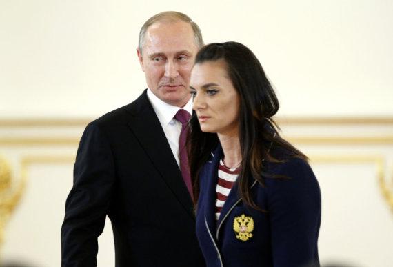 """""""Scanpix"""" nuotr./Vladimiras Putinas ir Jelenas Isinbajeva"""