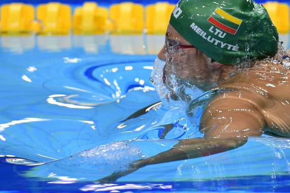 "AFP/""Scanpix"" nuotr./Rūta Meilutytė pasaulio čempionate."