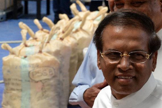 "AFP/""Scanpix"" nuotr./Šri Lankos prezidentas Maithripala Sirisena"