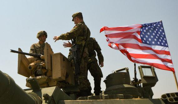 """AFP/""""Scanpix"""" nuotr./JAV ir Vokietijos kariai Sakartvele"""