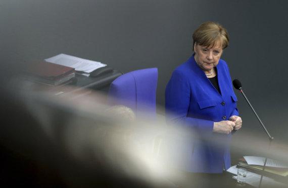 """Scanpix""/AP nuotr./Angela Merkel Bundestage"