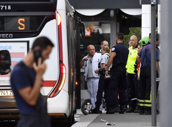 "AFP/""Scanpix"" nuotr./Išpuolis Lione"