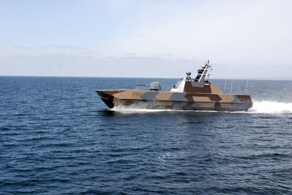 "Creative Commons/Matt nuotr./Norvegijos karinio laivyno ""Skjold"" klasės patrulio korvetė ""Storm"""