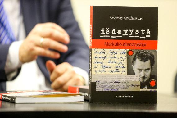 """Vidmanto Balkūno / 15min nuotr./Arvydo Anušausko knygos """"Išdavystė. Markulio dienoraščiai"""" pristatymas"""