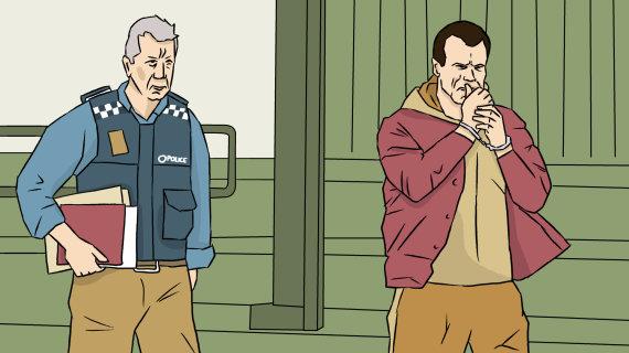 Skirmanto Malinausko iliustracija/Rokas Karpavičius pripažintas kaltu dėl narkotikų kontrabandos ir pinigų plovimo