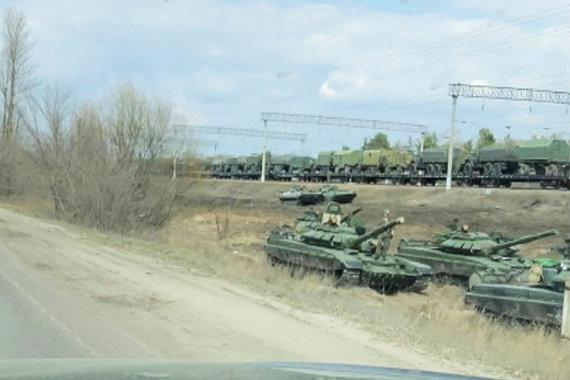 """""""Reuters""""/""""Scanpix"""" nuotr./Rusijos karinė technika prie Voronežo"""