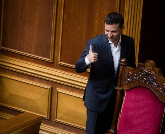 """Reuters""/""Scanpix"" nuotr./Ukrainos prezidentas Volodymyras Zelenskis"