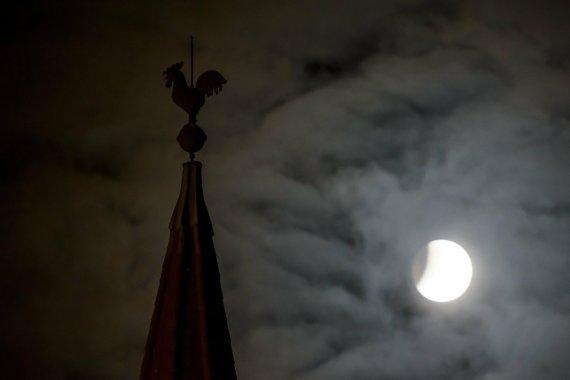 """""""Scanpix""""/AP nuotr./Mėnulio užtemimas"""