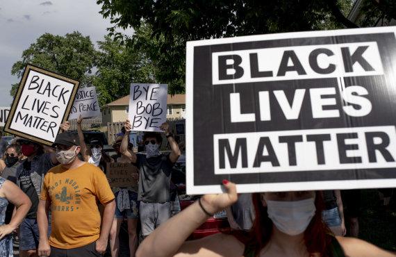 """AFP/""""Scanpix"""" nuotr./Protestai JAV dėl G.Floydo nužudymo"""