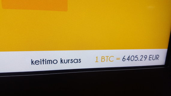 Ernesto Naprio / 15min nuotr./Keitimo kursas bitkoinų bankomate