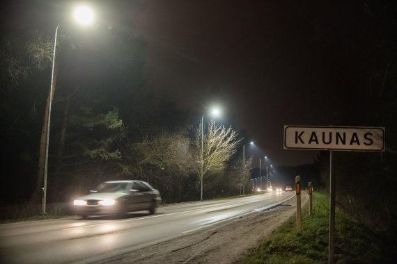 Kauno miesto savivaldybės nuotr./Naujasis Kauno gatvių LED apšvietimas
