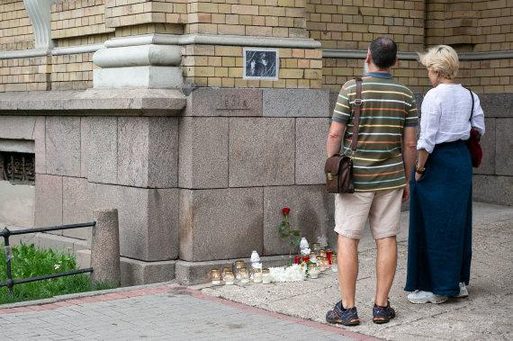 Žygimanto Gedvilos / 15min nuotr./Ant Vrublevskių bibliotekos sienos nebėra J.Noreikos atminimo lentos