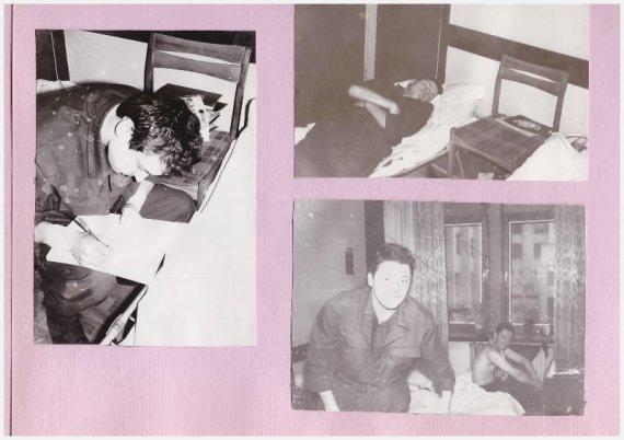 Laimis Gulbinauskas su draugu Ričardu Zaranka Vilniuje, 1991-ųjų sausis