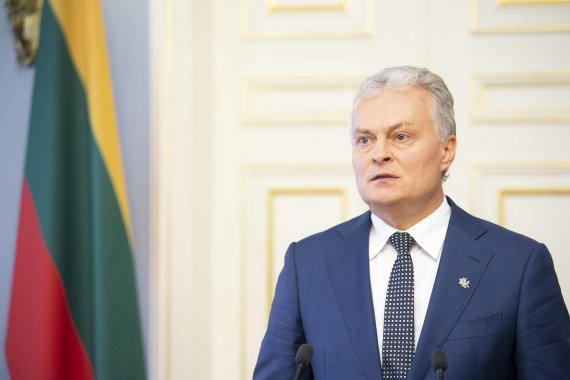 Arno Strumilos / 15min nuotr./Prezidentas Gitanas Nausėda