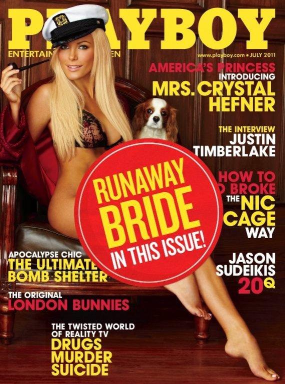 """""""Reuters""""/""""Scanpix"""" nuotr./""""Playboy"""" viršelis su """"pabėgusia nuotaka"""" Crystal Harris"""