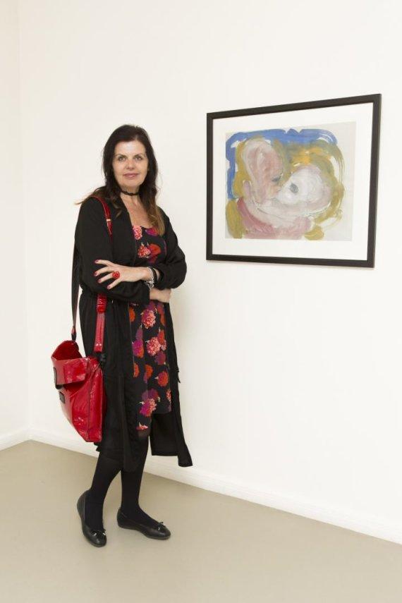 Mariaus Žičiaus nuotr./Rūta Bilkštytė parodoje pristatė Ričardo Povilo Vaitiekūno kūrinį.