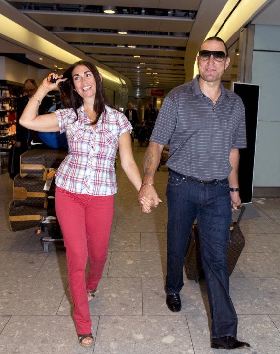 Vida Press nuotr./Aktorius Vinnie Jonesas su žmona Tanya
