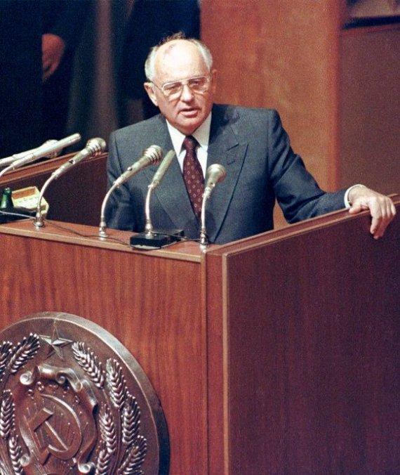"""""""Reuters""""/""""Scanpix"""" nuotr./Michailas Gorbačiovas"""