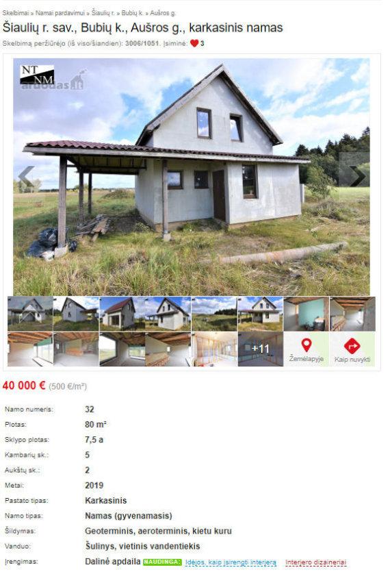 Interneto nuotr./Parduodamas Sandrai Grafininai priklausęs namas