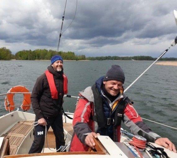 Asmeninio archyvo nuotr./Joe McMahonas (kairėje) Lietuvoje