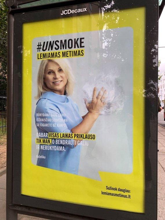 Unsmoke reklaminis stendas